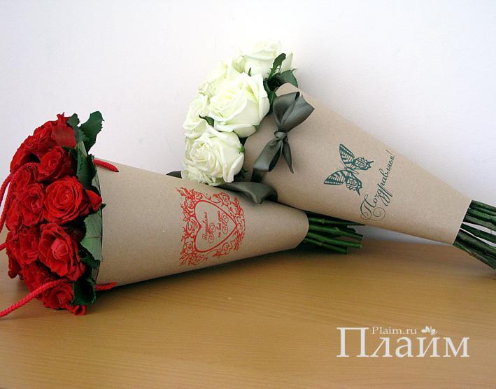 Цветы в пакете своими руками 96
