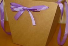 Коробки для цветов из плотного крафт картона